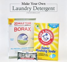 Make your very own homemade laundry detergent using this simple 3 ingredient recipe! via cherishedbliss.com