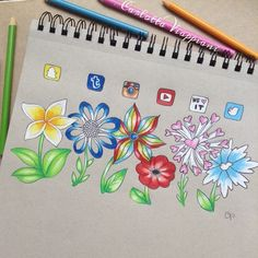 """SOCIAL MEDIA GARDEN Yeah I know I should get over these kind of drawings, but I had to have my own attempt at this (I saw something like this on…"""
