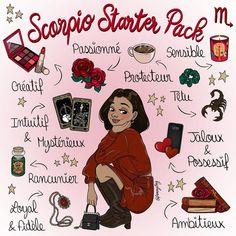 """21 k mentions J'aime, 504 commentaires - 🍀 Fanny 🍀 (@fannylng) sur Instagram: """"Swipe for 🇬🇧 ➡️  Au tour des Scorpions ♏️ Dites-moi si vous vous reconnaissez dedans 😁 …"""" Art Scorpio, Scorpio Funny, Zodiac Signs Scorpio, Zodiac Memes, Zodiac Star Signs, Zodiac Art, Astrology Zodiac, Scorpio Traits, Learn Astrology"""