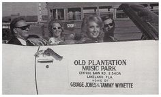 In March of 1969 Tammy and George Jones moved to Lakeland, Florida where Mr. Country Music lived and operated a country music venue, The Old Plantation Music Park. Country Singers, Country Music, Cardiac Arrhythmia, Tammy Wynette, Lakeland Florida, Patsy Cline, George Jones, Stand By You, Vintage Florida