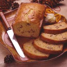 A hint of orange is the extra special tang in this moist quick nut bread.