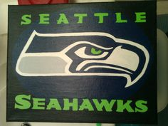 Seattle Seahawks Canvas Painting Any team by moorecrayons on Etsy, $10.00