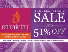 End of Season sale at Ethnicity - Amanora Town Centre