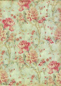 Rice Paper for Decoupage, Scrapbook Sheet, Craft Paper  Flower Texture