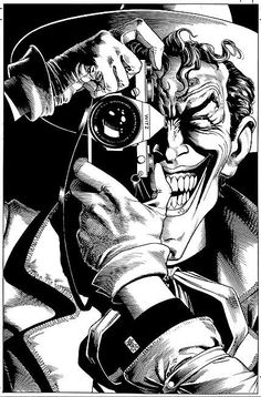 The Joker ~ Brian Bolland http://2.bp.blogspot.com/_uG1foZJTjiI/S8tJaKHcfSI/AAAAAAAADfY/wFkf6f2Tzxc/s1600/BrianBolland_Batman_JokerBN.jpg