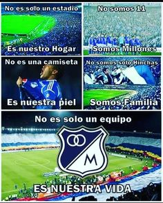 Millonarios FC Football, Hearth, Instagram Posts, Tumblr, Sport, Frases, See Through, Colombia, Goals