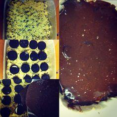 My try at the chocolate chip oreo fudge brownie bars :) yum!!