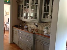 Glazed Baltic Bay color cabinetry