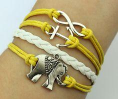 Infinity Bracelet Anchor Bracelet Elephant Bracelet by HLSU