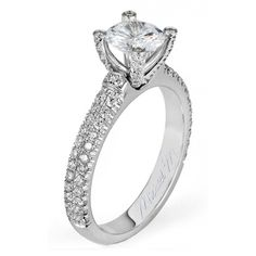 www.bridalrings.com #bridalringscompany #bridal #rings #gold #silver #diamonds #diamonds #halo #stunning #wedding #bride #groom #jewelry #jewels #losangeles #downtown #forever #love #beautiful #sparkling #bling #pave #solitaire Europa R483 - .