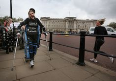 The ReWalk, a set of 'bionic trousers,' enables paraplegics to stand, walk and climb stairs through motion sensors and an onboard computer system.
