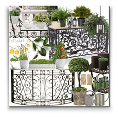 """Let´s plant"" by marionmeyer on Polyvore featuring interior, interiors, interior design, Zuhause, home decor, interior decorating, Frontgate, Potting Shed Creations, Uttermost und Esschert Design"