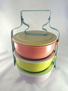Tiffin Food Pastel Color Vintage's Retro for Hot and Cold... https://www.amazon.com/dp/B00WHCWW6O/ref=cm_sw_r_pi_dp_U_x_y3hmAb9W1KSK3