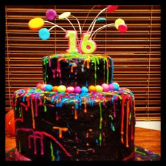 Calen and Melissa's 16 th birthday cake. - Calen and Melissa's 16 th birthday cake. Birthday Cakes For Men, Birthday Cake With Flowers, Homemade Birthday Cakes, Sweet 16 Birthday, 16th Birthday, Birthday Celebration, Birthday Parties, Cake Birthday, Birthday Goals