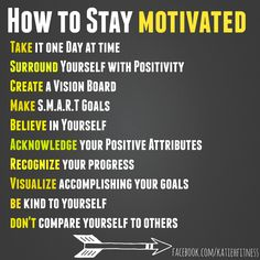 Daily fitspiration Stay motivated and you will be successful.