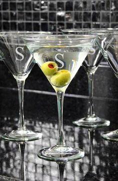 Classy! Personalized Martini Glasses