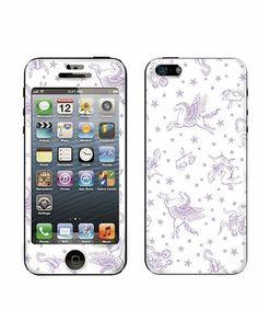 Gizmobies(ギズモビーズ)のCandyStripper(キャンディーストリッパー)×Gizmobies/ZODIAC【iPhone5専用】(モバイルケース/カバー)|ホワイト×パープル