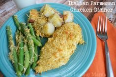 Italian Parmesan Chicken Dinner (Easy and so good!) #kraftfreshtake