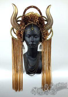 Autumn Goddess Headdress by MissGDesignsShop on Etsy