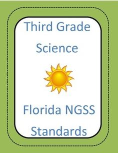 Checklist of all Florida Science standards for 3rd grade. Has a section for date taught and another for reflection.
