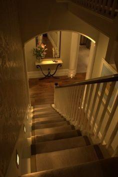 Stair lighting.