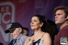 Actors Walter Koenig and Vic Mignogna and actress Marina Sirtis at the Salt Lake Comic Con 2015 Press Conference
