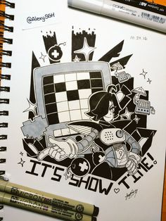 INKTOBER DAY 24: IT'S SHOWTIME, DARLINGS~  | More inktober and artworks |
