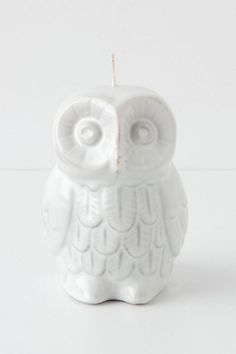 Woodland Owl Candle #anthropologie