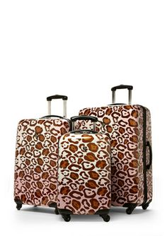 HEYS 3-Piece Leopard Romance Set ...  HEYS luggage is so durable and easy to spot of the luggage carousel!