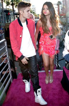The biebs and Gomez
