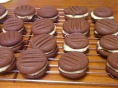 A lovely chocolate biscuit with an orange cream filling.