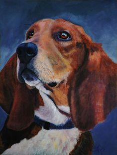 Beagle - original acrylic painting http://www.shirltheisartstudio.com http://shirl-theis.artistwebsites.com