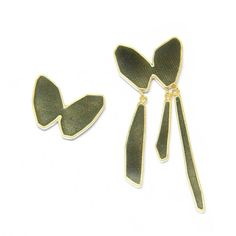 mismatched gray butterfly earrings