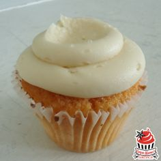 The Salty LuLu: delicious orange cake topped with salted caramel buttercream and fleur de sel.