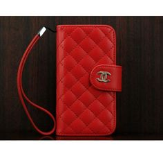 Coco Chanel iPhone 5 Case Wallet Red - Free Shipping Luxury Cases