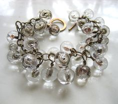 Lucinda Storms : Belvedere Beads - ice balls bracelet - glass & brass