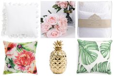 Celebrate Spring: 7 Simple Ways To Welcome Spring Into Your Home #homedecor #pillows #springdecorating #decorating #interiordesign #pineapple #florals #
