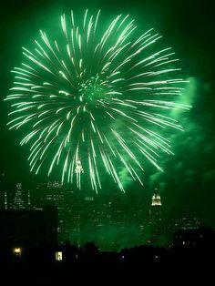 green fireworks - Google Search