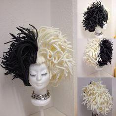 Resultado de imagen para foampruik Carnival Costumes, Disney Costumes, Halloween Costumes, Halloween Diy, Costume Wigs, Costume Makeup, Cosplay Costumes, Ursula Wig, Foam Wigs