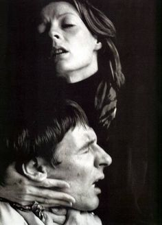 Maggie Smith and Robert Stephens in a publicity photo for the Ingmar Bergman…