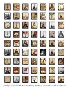 Paris Scrabble Tile Papers