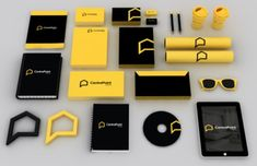 Real Estate Corporate #Branding & Merchandise check out the crisp yellow colours! Definitely #lookingsharp