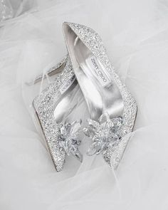 These sparkly Jimmy Choo shoes have to be the ultimate wedding shoes!