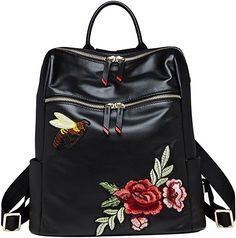 Amazing offer on LAORENTOU Women Genuine Leather Backpack Fashion Purse Girl Mini Knapsack Casual Shoulder Schoolbag online - Toptrendsoffer Jean Backpack, Small Backpack, Backpack Purse, Black Backpack, Leather Backpack, Fashion Backpack, Hair Band For Girl, Anti Theft Backpack, Purse Styles