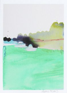 Abstract Landscape Watercolor Print 5x7 giclee by laurenadamsart, $20.00