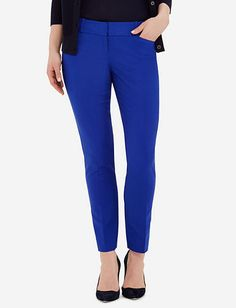 Cotton Pencil Pants from THELIMITED.com (Blue)