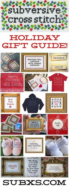 Click on descriptions to go to each product page.Who's the best gift giver? YOU ARE! GIFTS FOR THE NEW STITCHER Someone you know NEEDS to learn how to cross stitch. They have a great sense o…