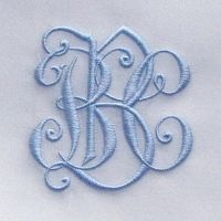 Looks vintage. Embroidery Monogram, Embroidery Fonts, Embroidery Applique, Machine Embroidery Designs, Embroidery Patterns, Monogram Design, Monogram Fonts, Monogram Letters, Free Monogram