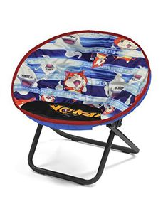 Featuring a unique Yo Kai watch design, your child can enjoy their favorite book or television show while sitting comfortably on their Level-5 Yo Kai watch toddler saucer chair. Its saucer shape makes it the perfect seat for lounging and relaxing. The chair is made out of a sturdy metal frame... more details available at https://furniture.bestselleroutlets.com/children-furniture/chairs-seats/folding-chairs/product-review-for-level-5-yo-kai-watch-toddler-saucer-chair/