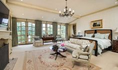 See inside Ozzy and Sharon Osbourne's rustic home in Beverly Hills Ozzy And Sharon Osbourne, Beverly Hills Mansion, Grand Staircase, Dream Rooms, House Tours, Rustic, Mansions, Bedroom, Gothic